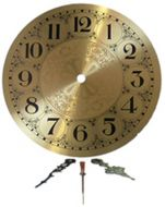 """13531-Clarity 7"""" Brass Clock Face With Hands"""
