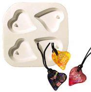 47189-Holey Heart Quad Mold 5.25