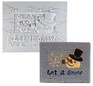 47330-Let it Snow Texture Tile Mold 6-1/2