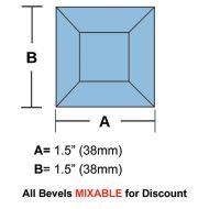 "63310-Lt. Blue Square Bevel 1.5"""