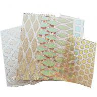 74544-1/4# Dichro. Scrap Thin Clear Pattern 90 Austin