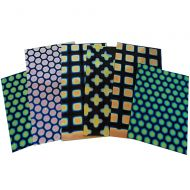 74547-1/4# Dichro. Scrap Thin Black Pattern 96 Austin