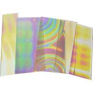 74550-1/4# Dichro. Tie Dye Scrap Thin Clear 96 Austin