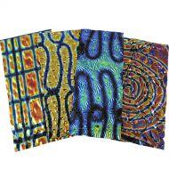 74554-1/4# Tie Dye Scrap Thin Wissmach Black 90 Austin