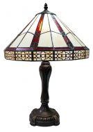 83141-Geometric Pattern Tiffany Stained Glass Shade & Lamp Base