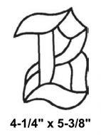 BLB-Bevel Letter B