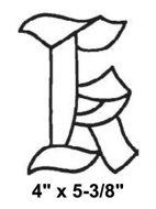 BLK-Bevel Letter K