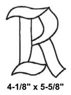 BLR-Bevel Letter R