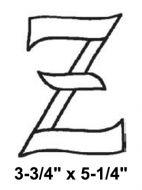 BLZ-Bevel Letter Z