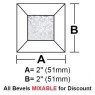 """BV22G-Glue Chip Square Bevel 2"""""""