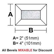 "BV24G-Glue Chip Rec.Bevel 2""x4"""