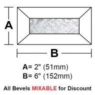"BV26G-Glue Chip Rec.Bevel 2""x6"""