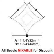 "BVPS14-Pointed Star Bevel 1-1/4""x1-1/4""x1-3/4"""