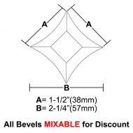 "BVPS15-Pointed Star Bevel 1.5""x1.5""x2-1/4"""