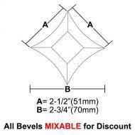 "BVPS22-Pointed Star Bevel 2""x2""x2-3/4"""