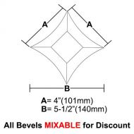 "BVPS44-Pointed Star Bevel 4""x 4""x 5-1/2"""