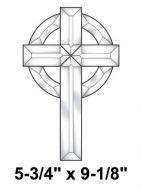 EC152-Exquisite Cluster Large Celtic Cross