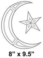 EC158-Exquisite Cluster Love Symbol Crescent Moon/Star