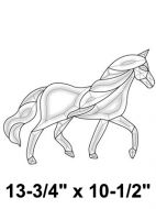 EC188-Exquisite Cluster Elegant Horse