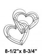EC254-Exquisite Cluster Hearts
