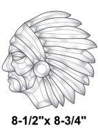 EC255-Exquisite Cluster Native American Head