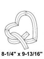 EC256-Exquisite Cluster Heart w/Ribbon
