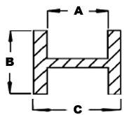"""2370CS-Case Prism 1/4"""" Flat H Lead"""
