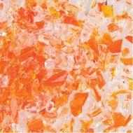 UF5100-Frit 96 Coarse Orange Opal/Clear #2700